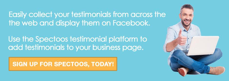 add testimonials to facebook